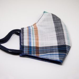 Blue Plaid Face Mask