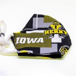 Hawkeyes / Polka Dots Face Mask
