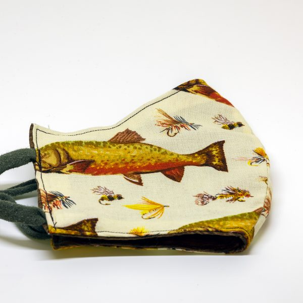 Fly Fishing Print Face Mask
